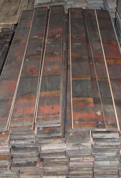 plancher fond de wagon rouge
