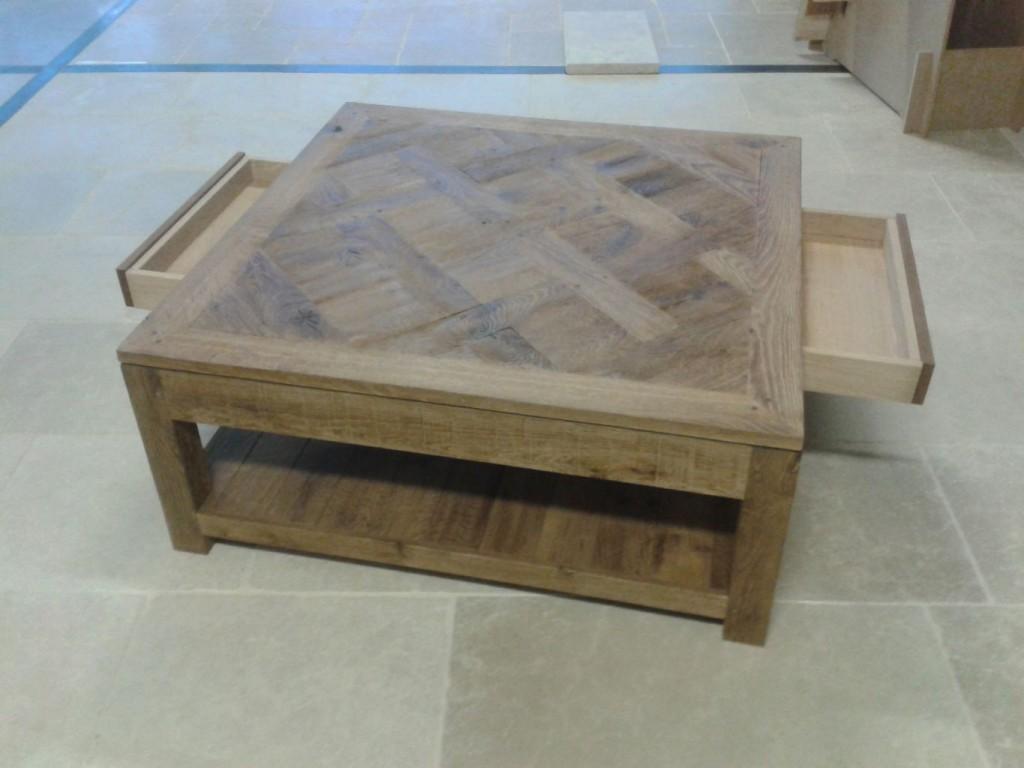 table basse parquet versailles sur mesure possible bca mat riaux. Black Bedroom Furniture Sets. Home Design Ideas