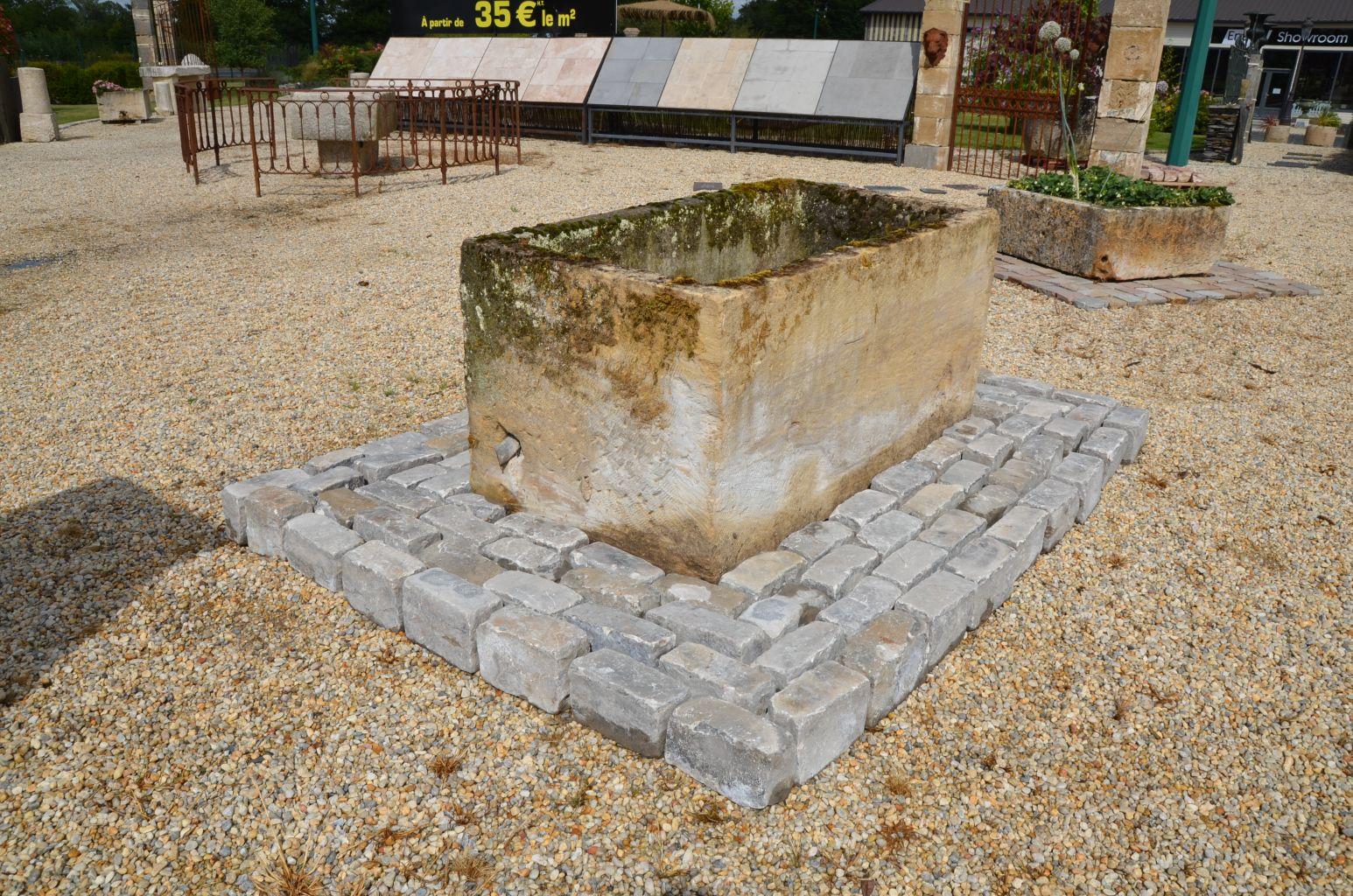Bac en pierre ancien bac de r cup ration bca mat riaux for Bac pierre jardin