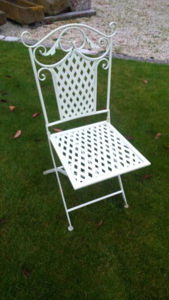 chaises pliante fer