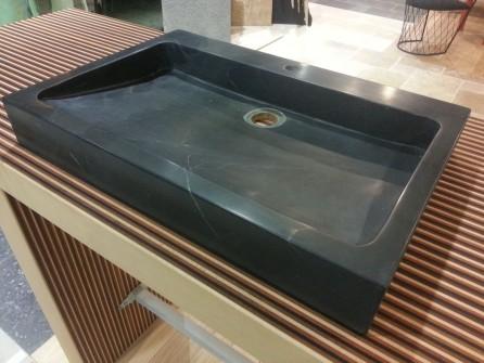 vasque pierre bleue rectangle bca mat riaux anciens. Black Bedroom Furniture Sets. Home Design Ideas