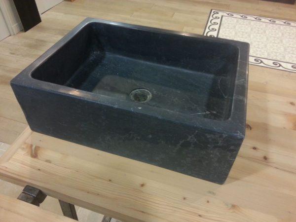 lavabo pierre bleue