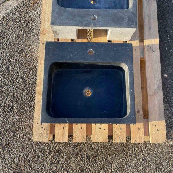 vasque rectangulaire brillant bleue