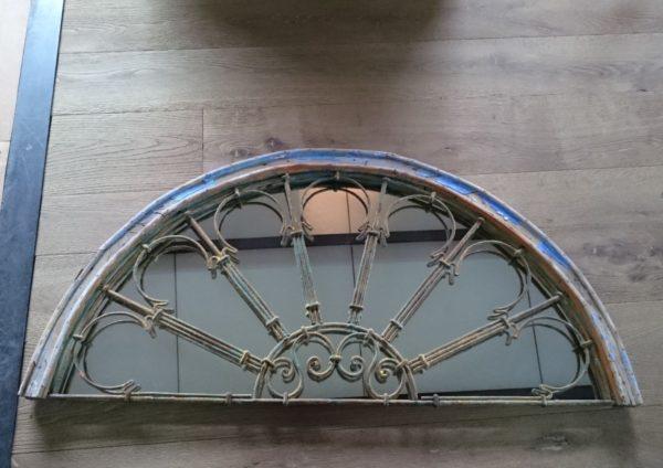 Miroir bois et metal