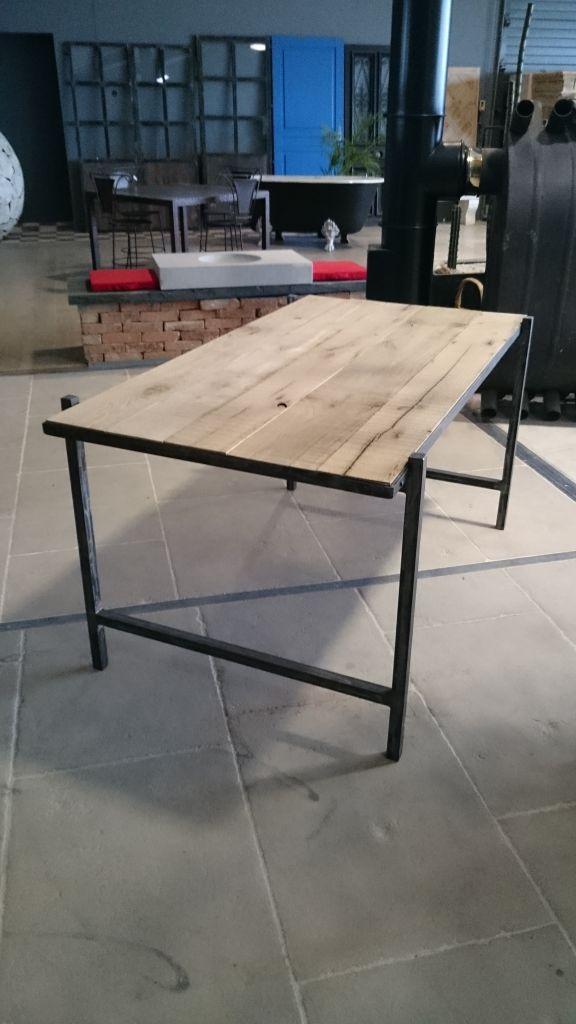 Vieux Bureau En Bois - Bureau en fer et vieux bois Vieux ch u00eane de récupération BCA Matériaux