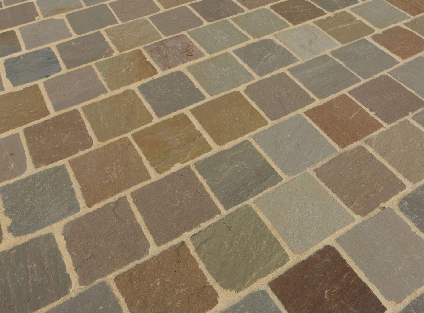 Pav kandla en gr s multicolor 14x14 et 14x20 bca mat riaux anciens - Pave pierre naturelle ...
