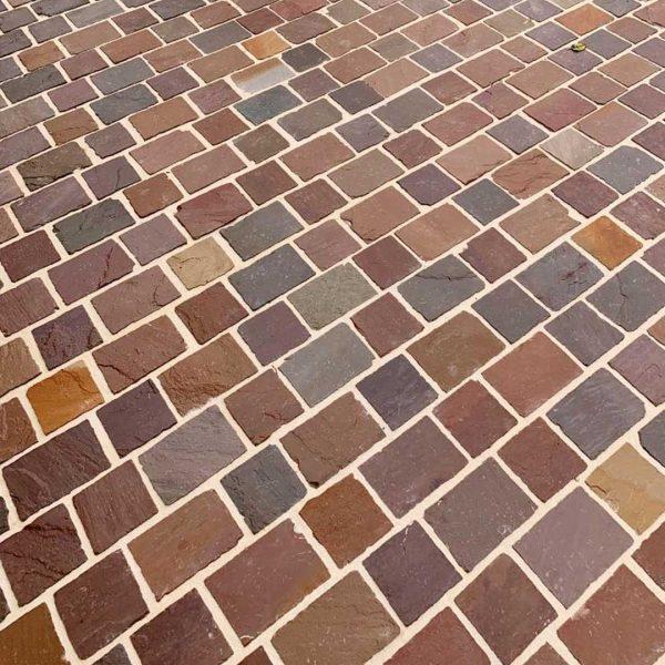 pavé kandla en pierre naturelle grès multicolor