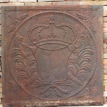 Plaque de cheminée ancienne en fonte 81x81cm