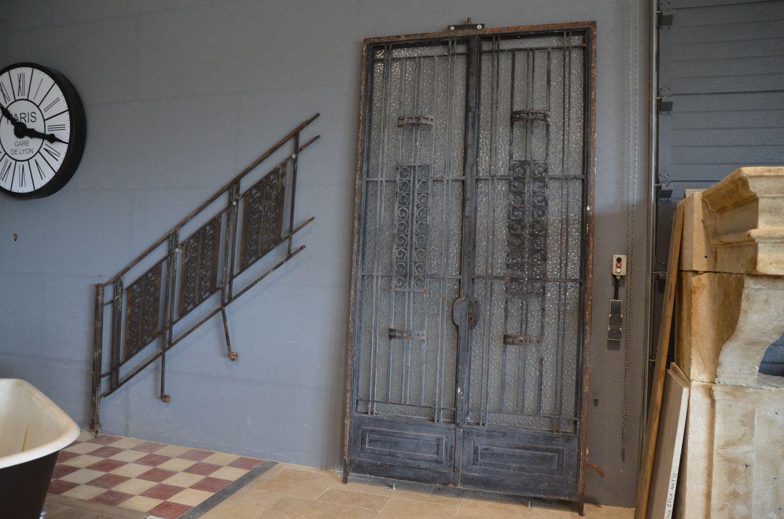 porte art deco porte d 39 entr e ancienne fer forg bca. Black Bedroom Furniture Sets. Home Design Ideas