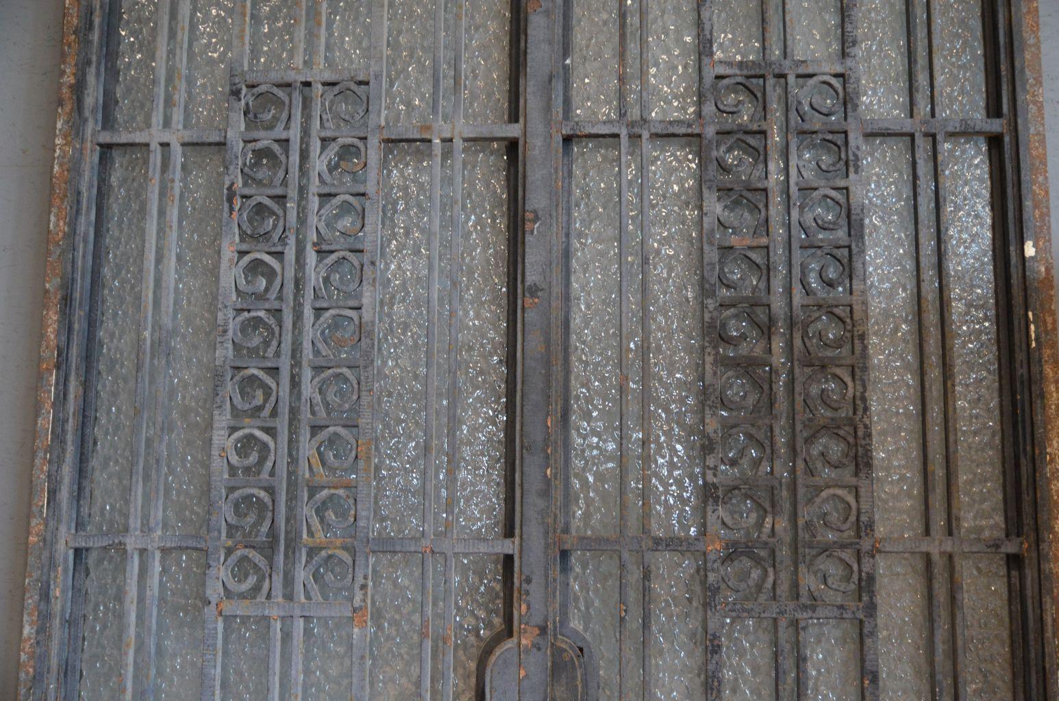 Porte art deco porte d 39 entr e ancienne fer forg bca mat riaux for Porte fer forge ancienne