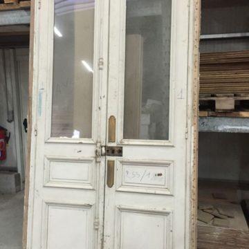 Porte Haussmannienne double intérieure en bois blanc