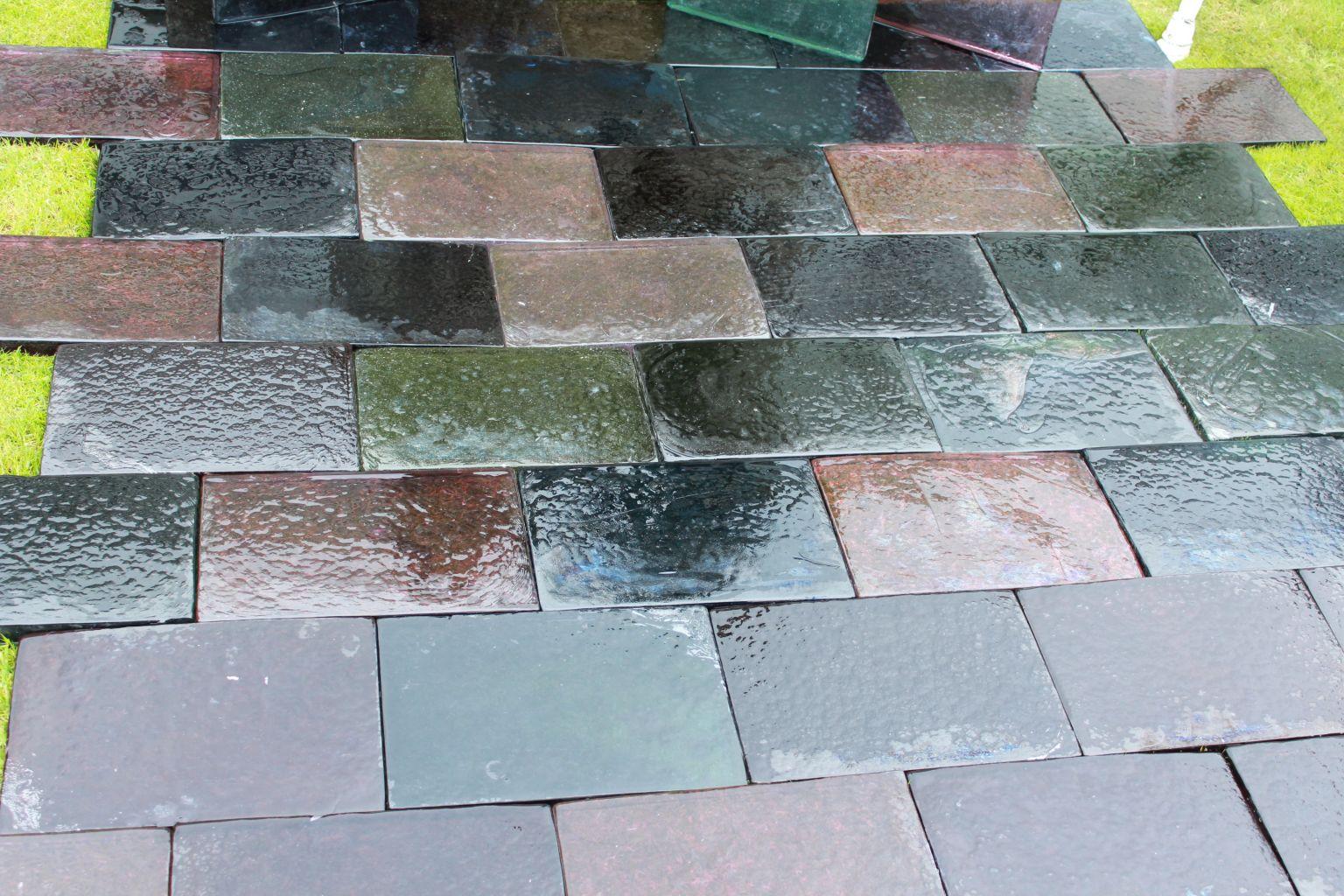 Dalle de verre ext rieur multicolore bca mat riaux anciens for Pave de verre exterieur