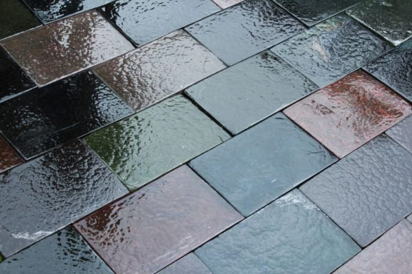 carreaux, dalles de verre multicolor