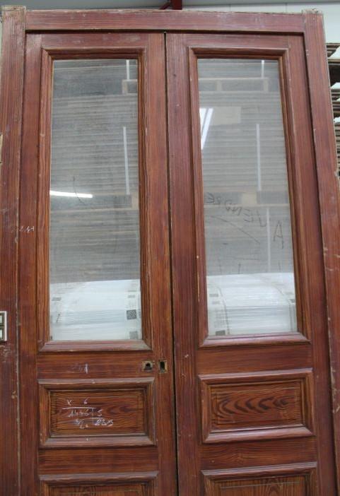 porte haussmannienne en bois avec vitrage bca mat riaux anciens. Black Bedroom Furniture Sets. Home Design Ideas