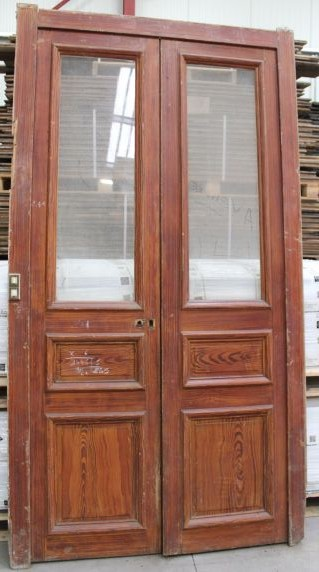 Porte Haussmannienne porte haussmannienne en bois - avec vitrage | bca matériaux anciens