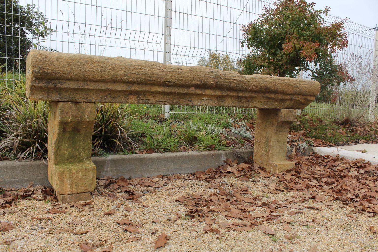 Banc En Pierre Ancien dedans banc en pierre ancien - banc de jardin ancien   bca matériaux anciens