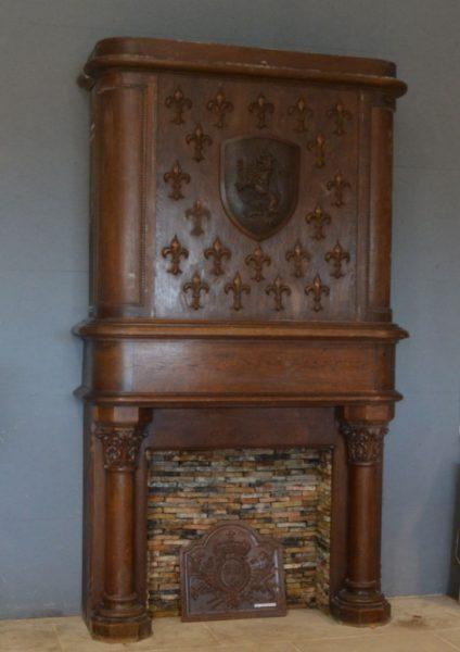 cheminée ancienne en bois
