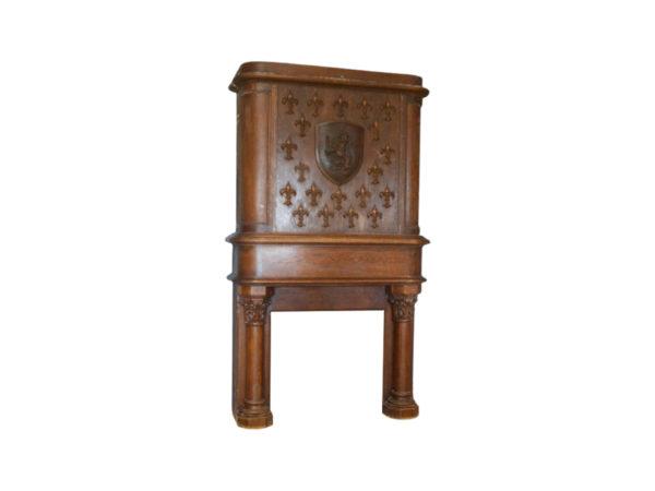 cheminée ancienne à trumeau en bois