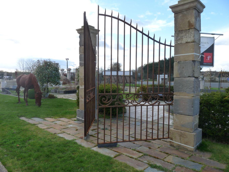 Portail en fer forg for Portail jardin metal