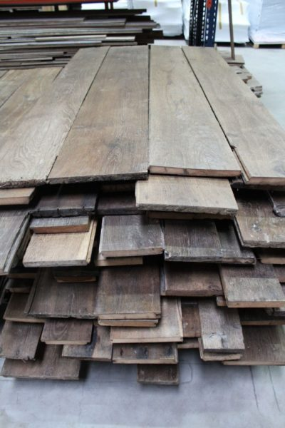 Antique reclaimed French oak floorboards