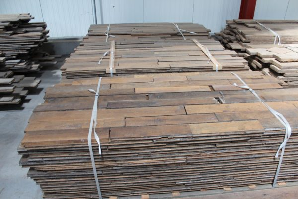 Reclaimed French oak parquet floorboards