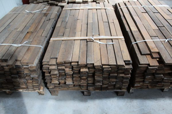 Reclaimed Haussmann-era French oak parquet floorboards