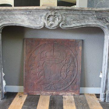 Cheminée Ancienne en marbre Gris des Ardennes