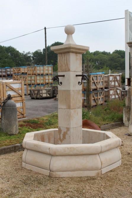 Fontaine de jardin en pierre naturelle bca mat riaux anciens - Bassin ancien pierre vendre aulnay sous bois ...