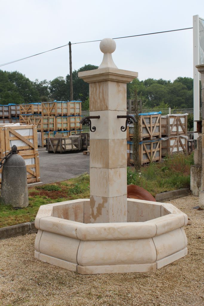 Fontaine de jardin en pierre naturelle bca mat riaux anciens for Fontaine de jardin en pierre ancienne