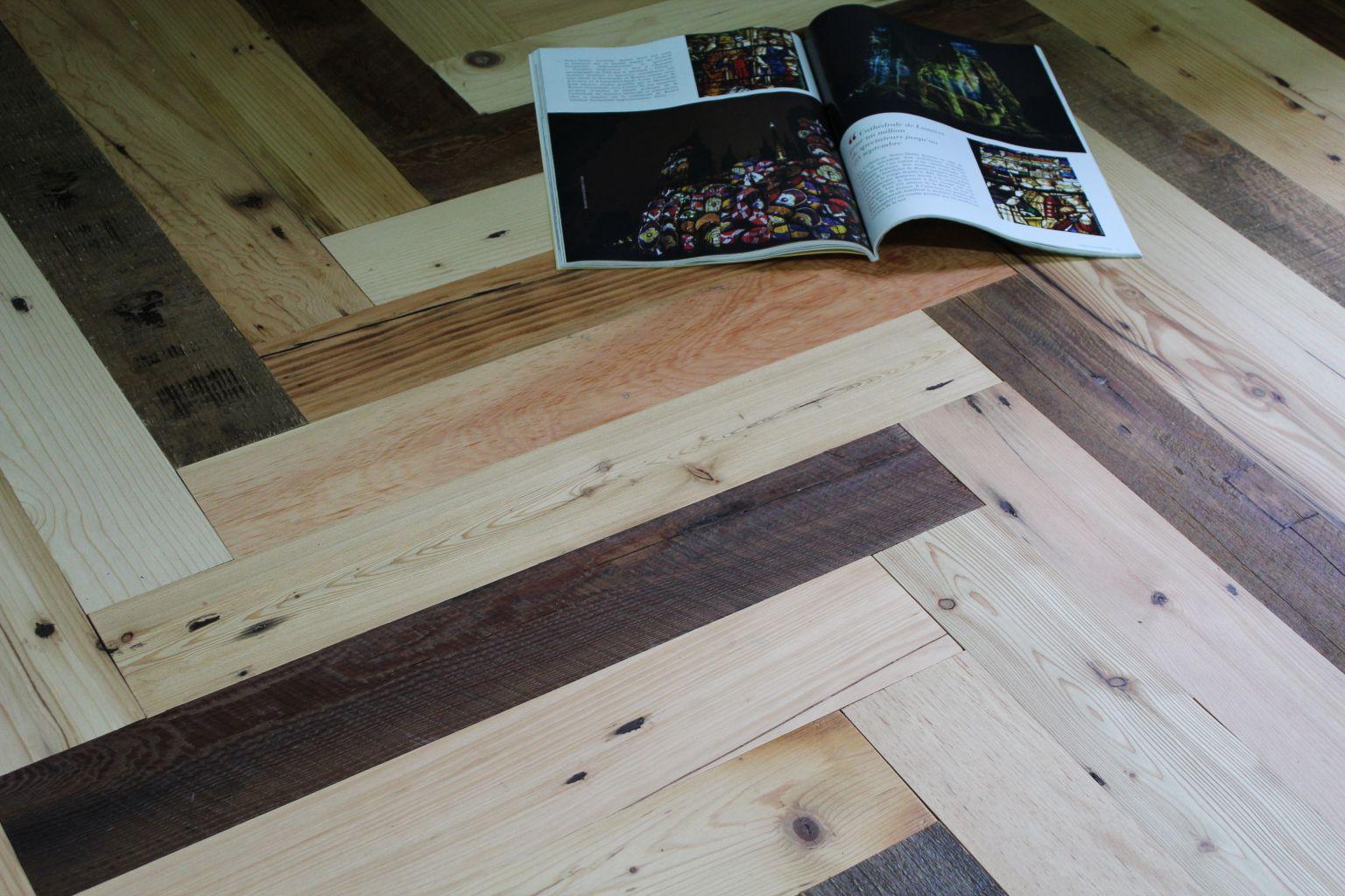 parquet vieux sapin en b ton rompu contrecoll bca mat riaux anciens. Black Bedroom Furniture Sets. Home Design Ideas