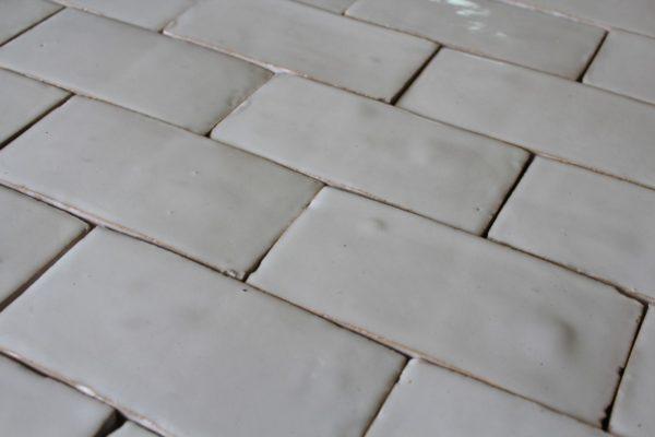 Brique blanche en terre cuite