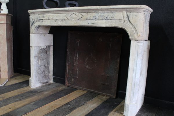 Classic antique French fireplace