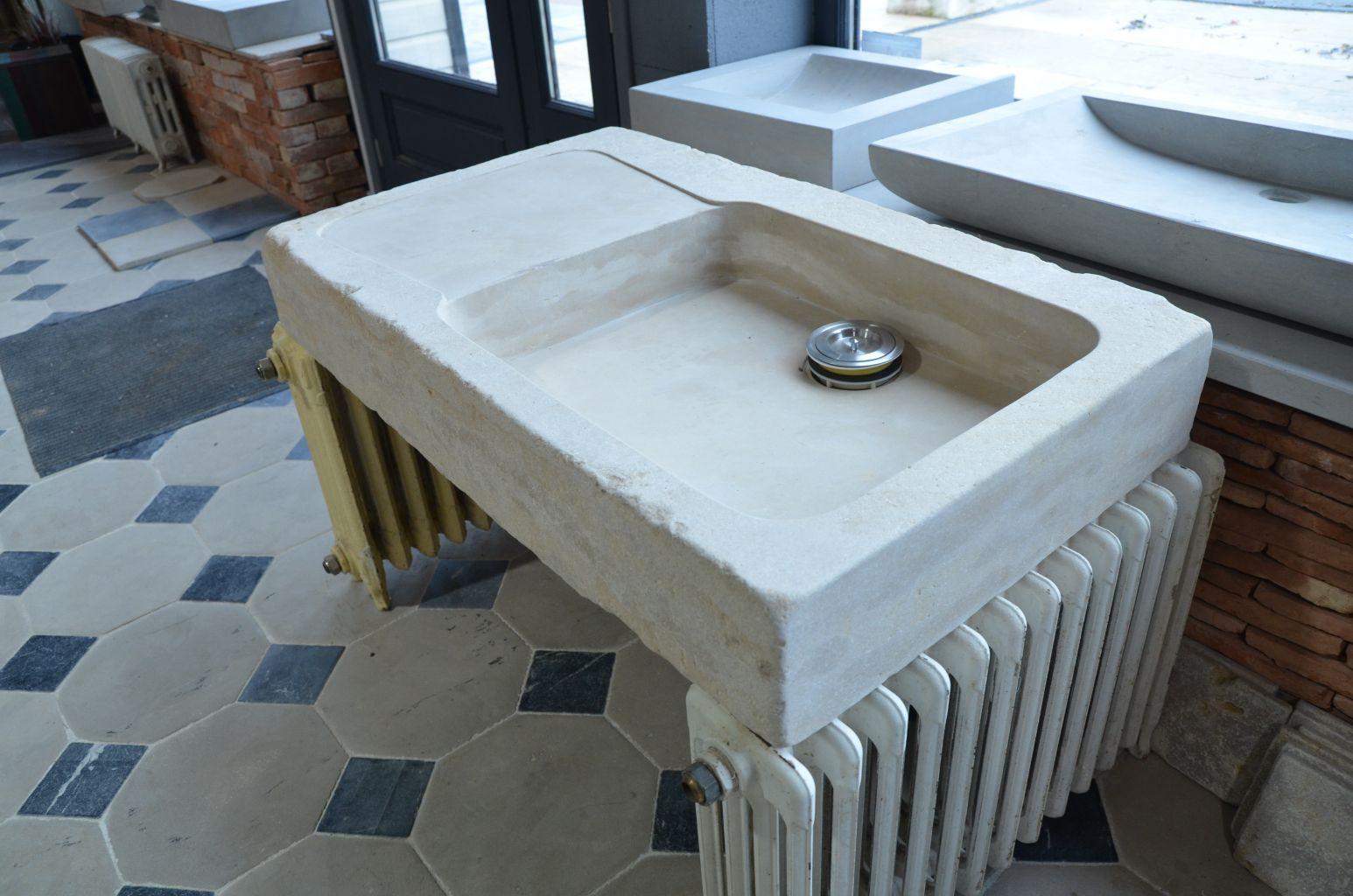 evier en pierre naturelle 100 cm x 60 cm bca mat riaux. Black Bedroom Furniture Sets. Home Design Ideas