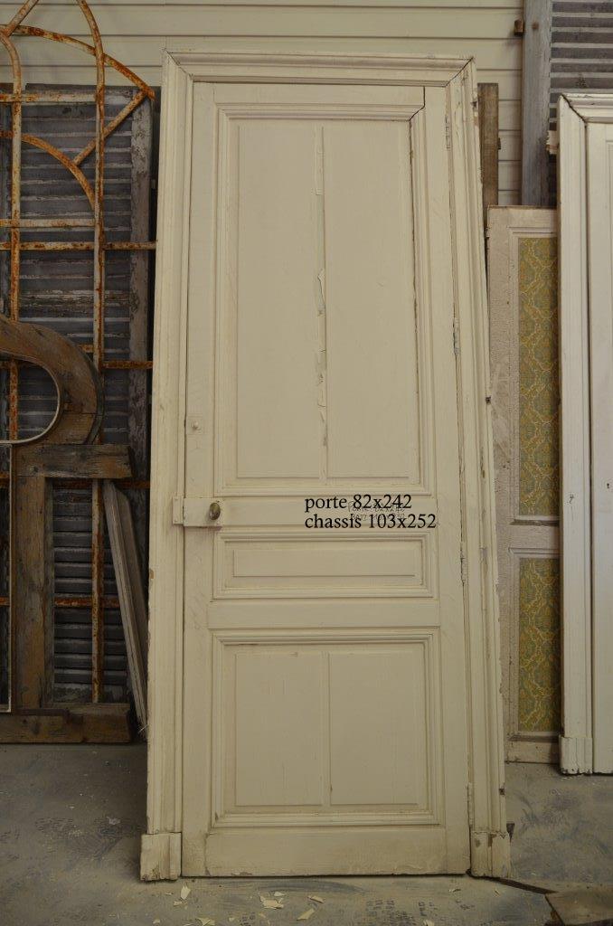 Portes anciennes de communication en bois avec leurs ch ssis for Porte interieure vitree ancienne