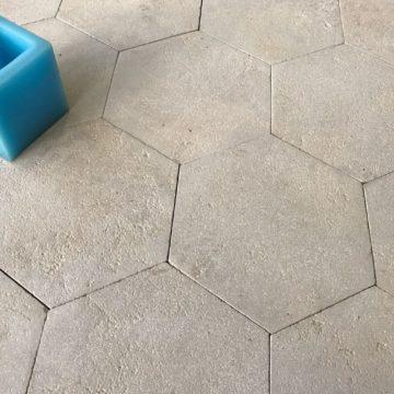 Dallage patrimoine hexagonal
