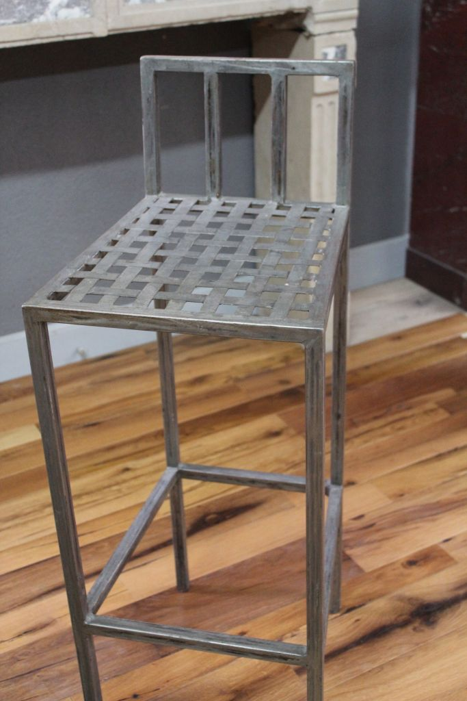 Chaise haute de bar en fer style industriel bca - Chaise en fer industriel ...