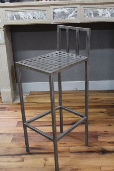 Chaise haute de bar en fer style industriel
