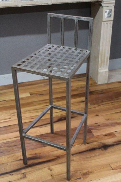 Chaise haute de bar en fer