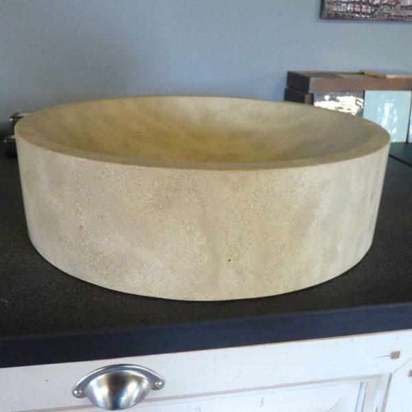 Vasque en pierre naturelle beige