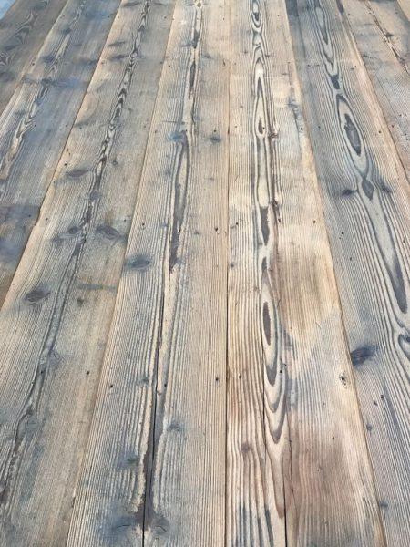 plancher ancien en sapin