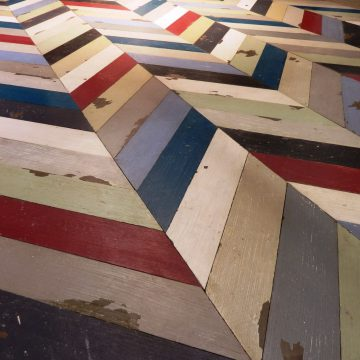 parquet chene point de hongrie multicolore