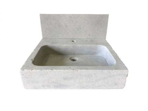 evier en pierre naturelle gris