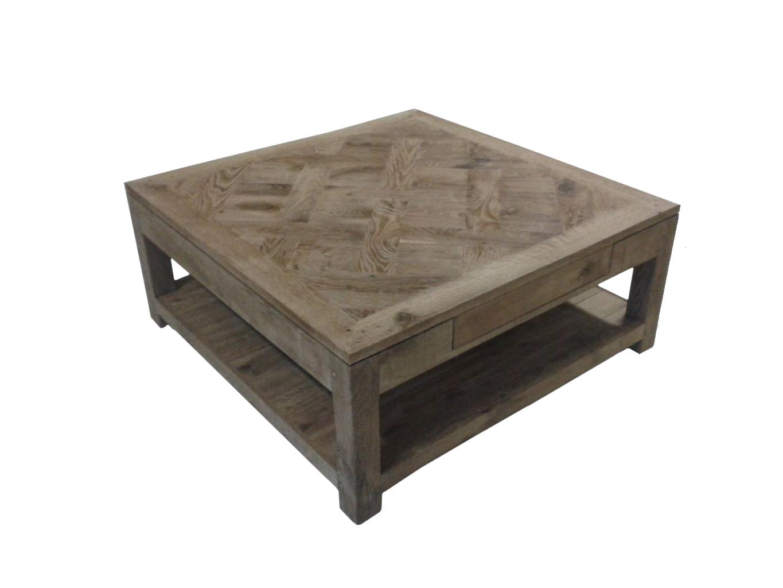 Table basse parquet versailles sur mesure possible bca - Table basse bois blanchi ...