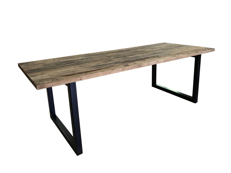 table plancher de wagon table industrielle bca mat riaux anciens. Black Bedroom Furniture Sets. Home Design Ideas