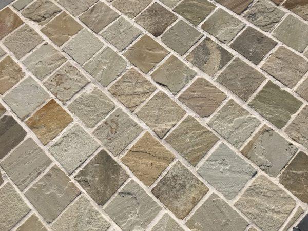 pavé en pierre naturelle grès beige BCA