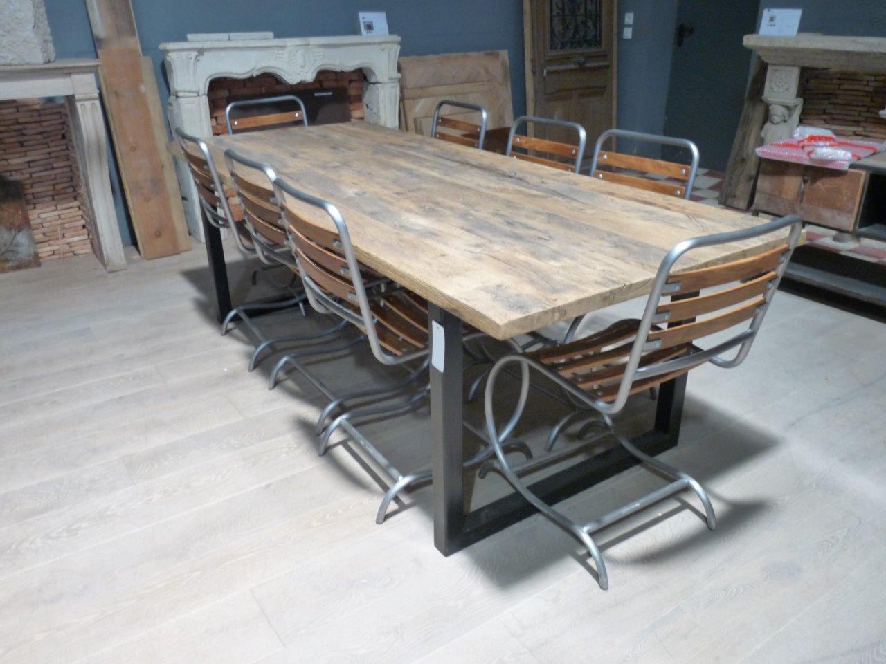 Chaise en m tal et bois hauteur 87 cm bca mat riaux for Chaise 87 cm