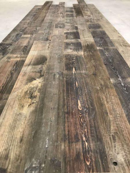 patine naturelle de plancher wagon