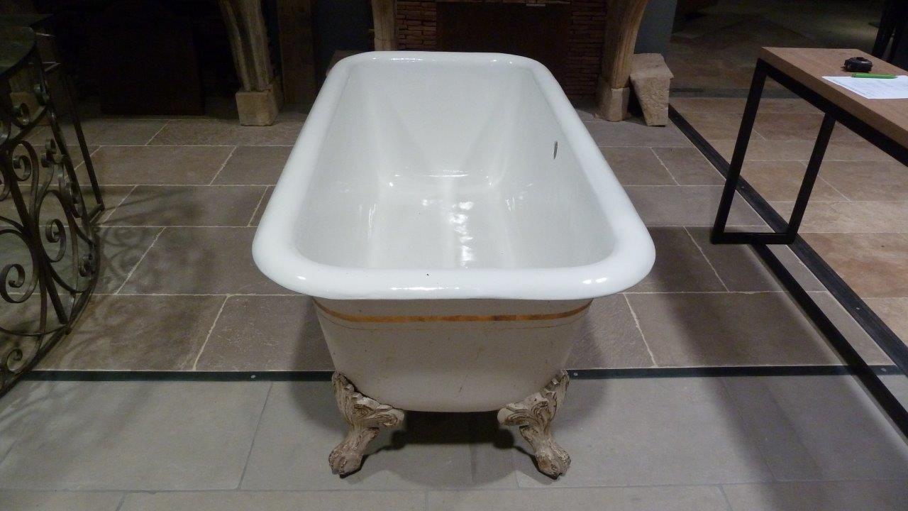 baignoire sur pieds en fonte maill e bca mat riaux anciens. Black Bedroom Furniture Sets. Home Design Ideas