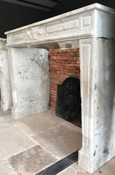 habillage de cheminée ancienne
