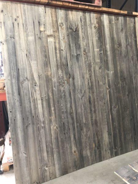 panneau en vieux bois gris essence sapin naturel